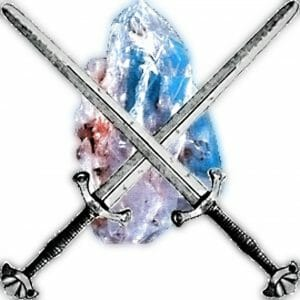 crystal and swords