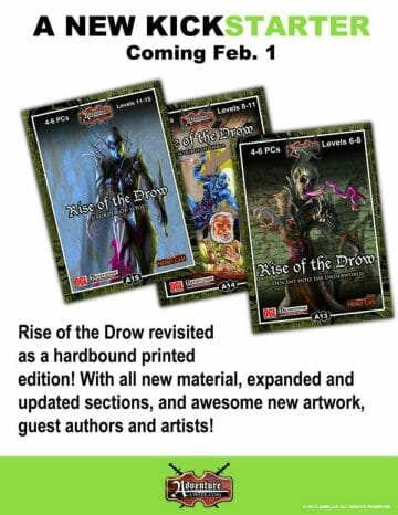Rise of the Drow Kickstarter
