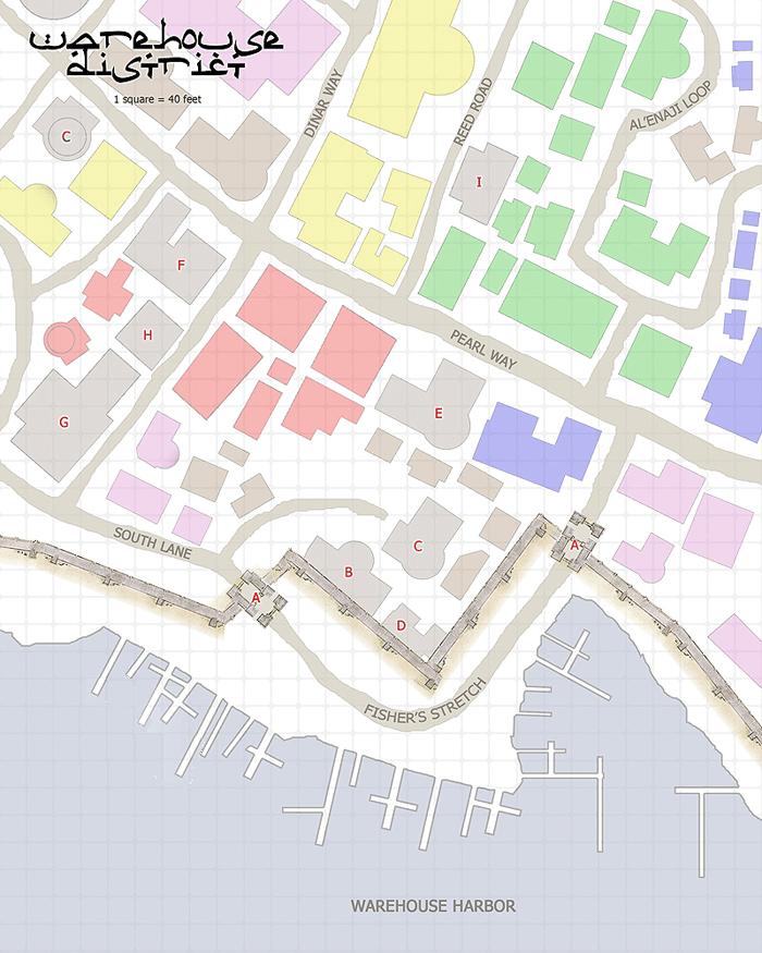 The warehouse district of Nyamo.