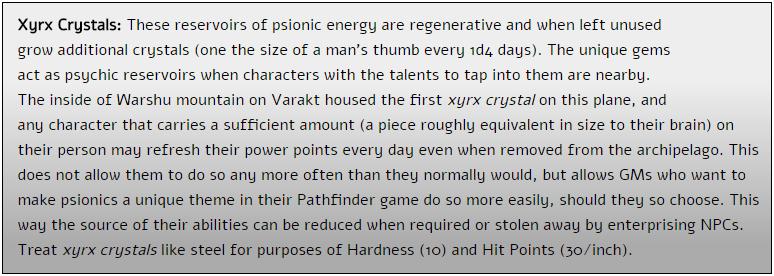 xyrx crystals