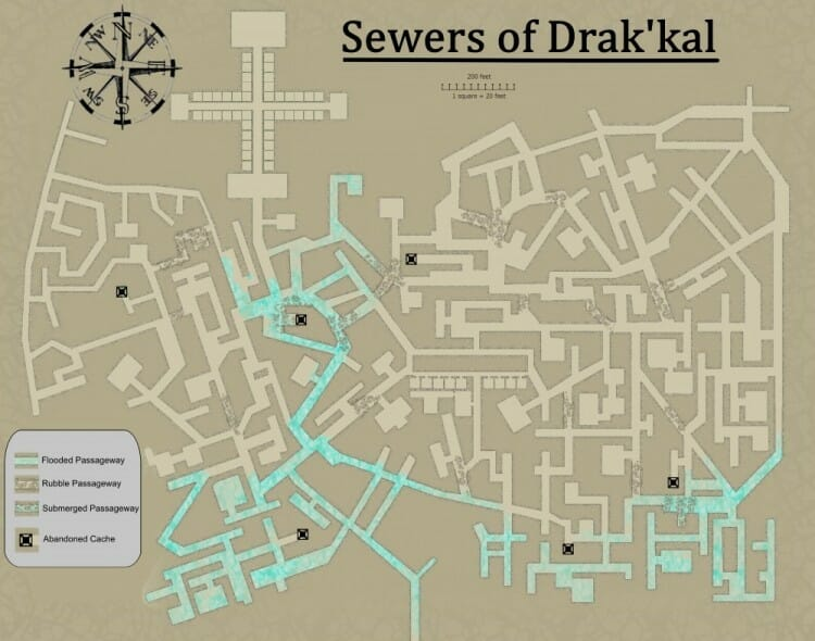 drak'kal sewers map for website