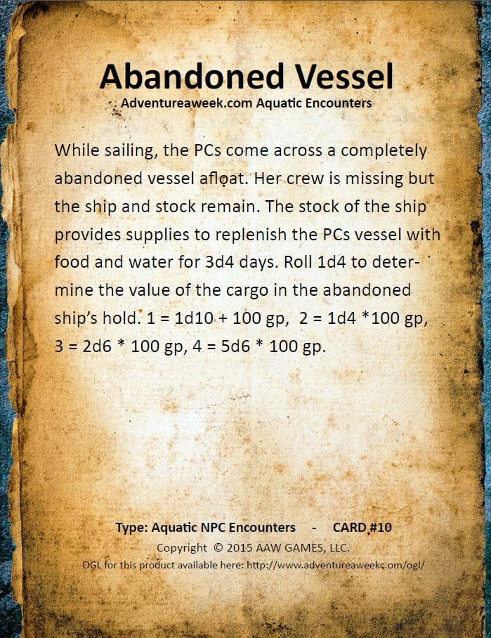 aquatic encounter deck 10