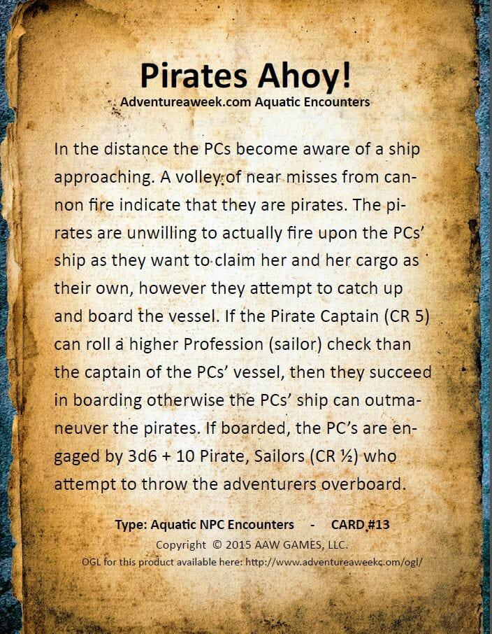 aquatic encounter deck 13