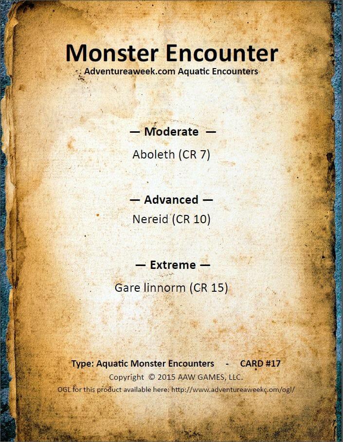 aquatic encounter deck 17