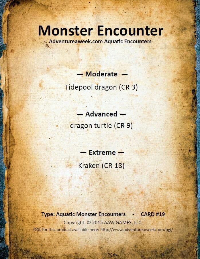 aquatic encounter deck 19