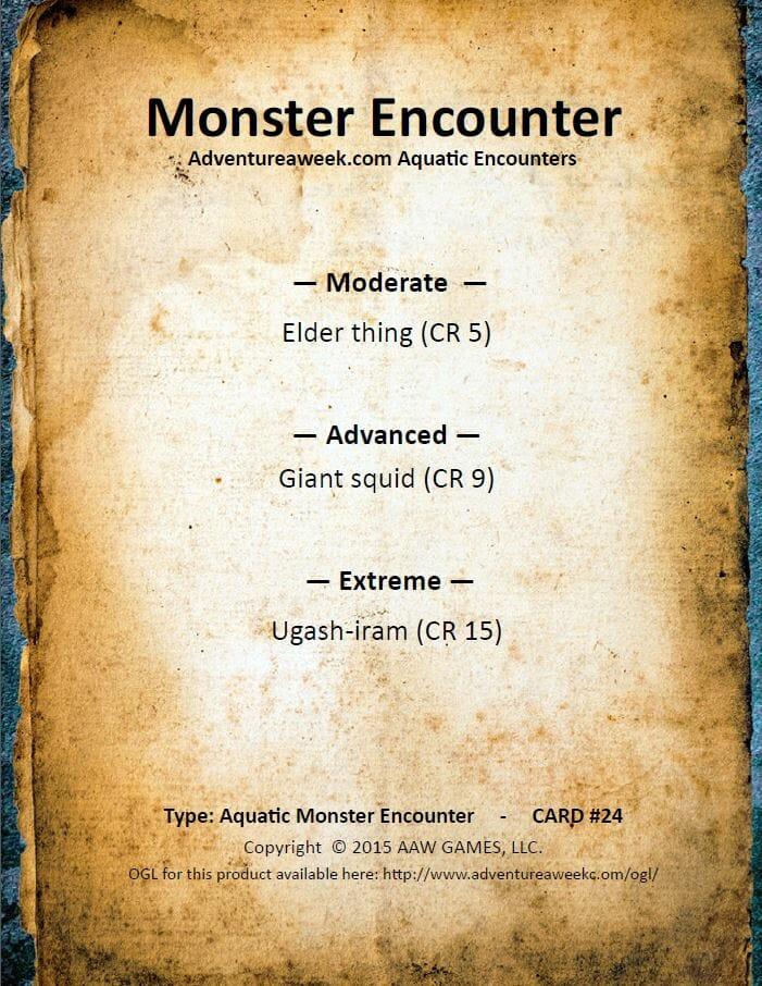 aquatic encounter deck 24