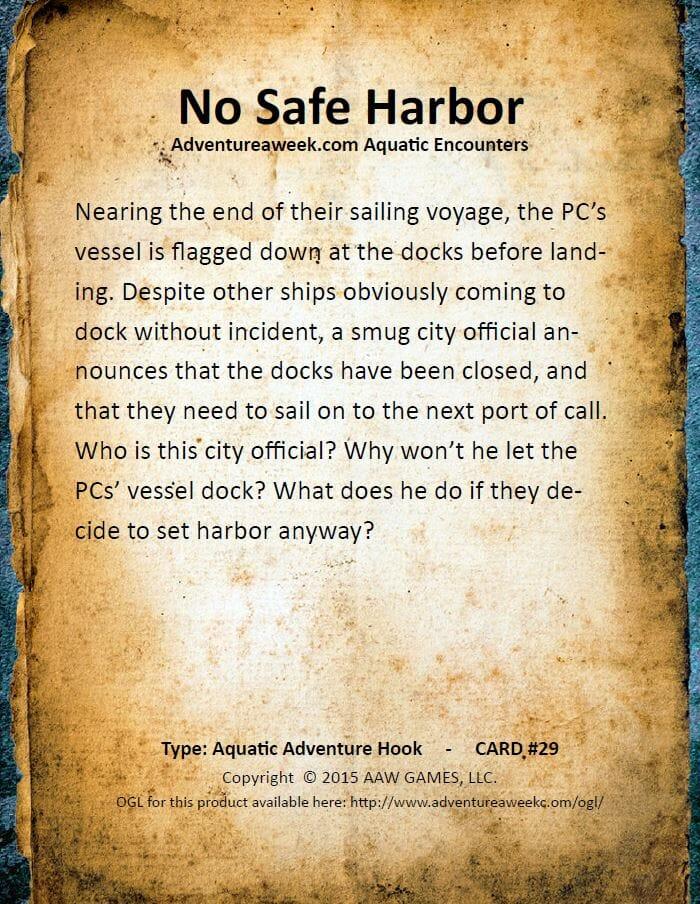 aquatic encounter deck 29