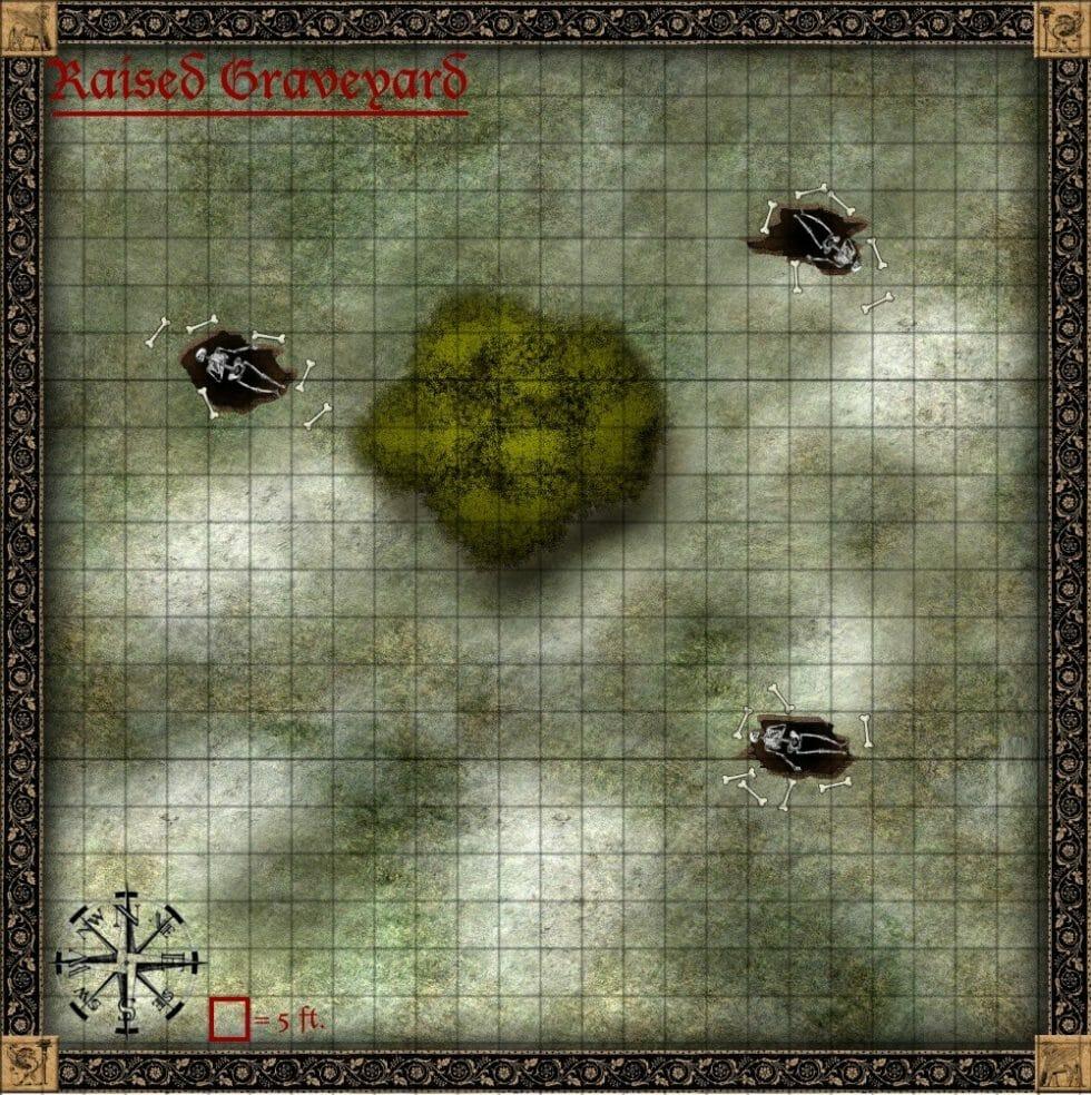 raised graveyard map
