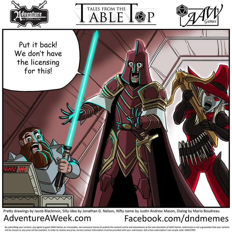 Tales from the Tabletop #20 - Put it back! We don't have the licensing for this! ~ Mario Boudreau