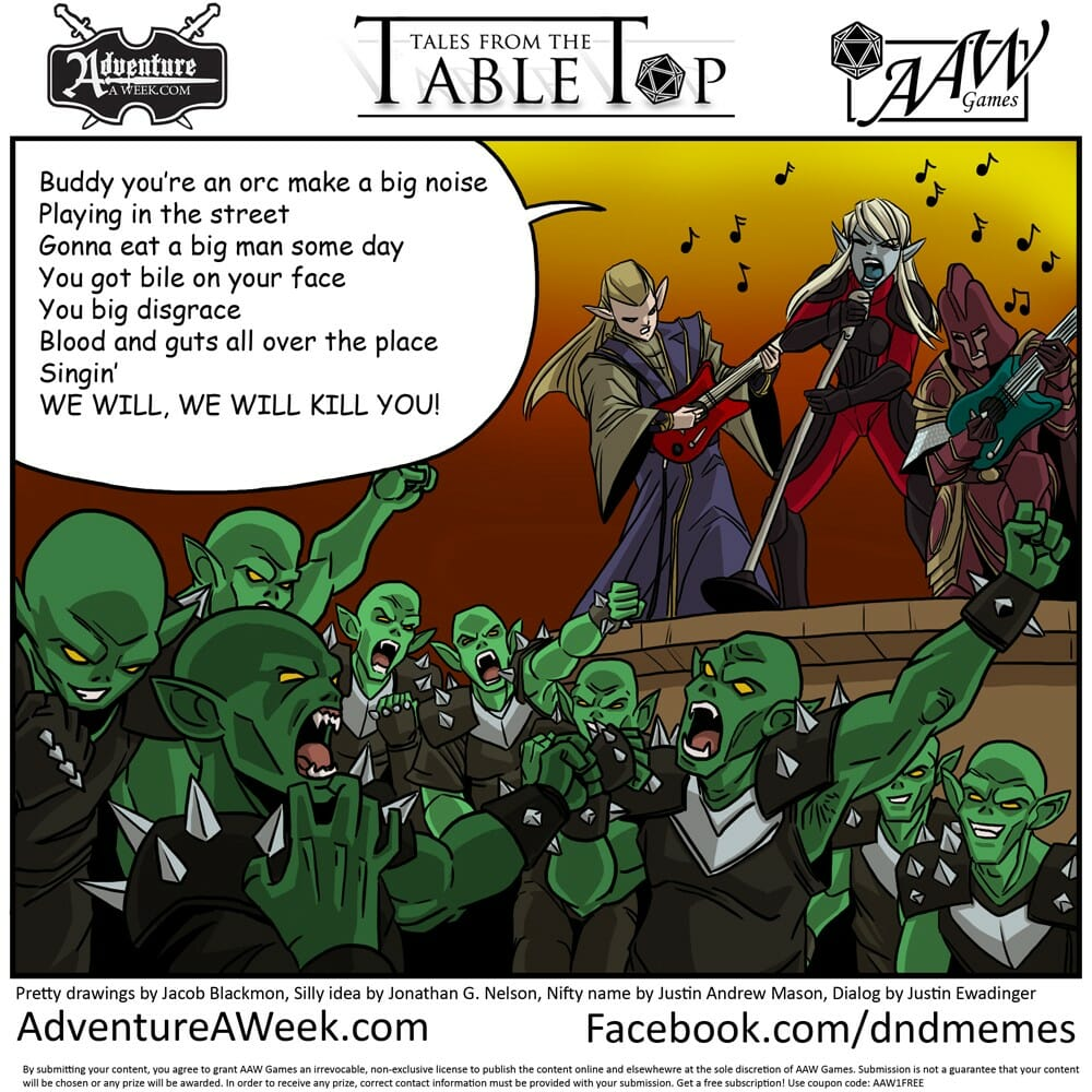 Caption for Tales from the Tabletop #29.