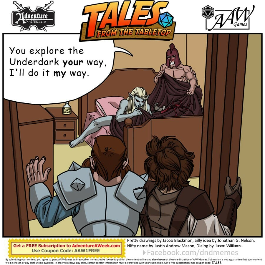 Caption for Tales from the Tabletop #34.