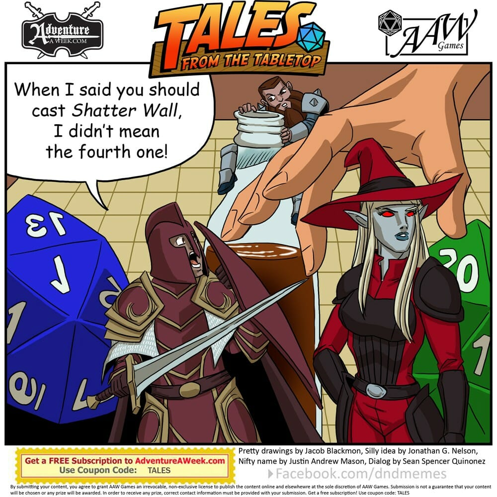 Caption for Tales from the Tabletop #37.